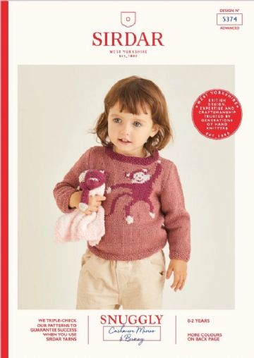 Sirdar 5374 - Monkey Toy and Sweater Knitting Pattern